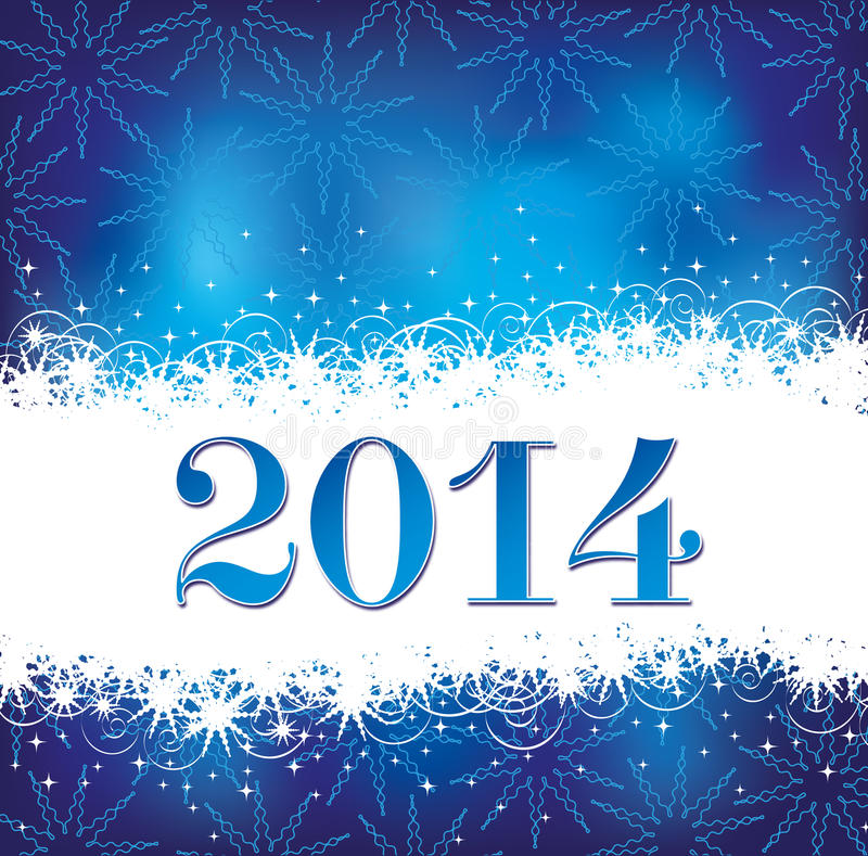 Fondo 2014 de la Navidad stock de ilustración