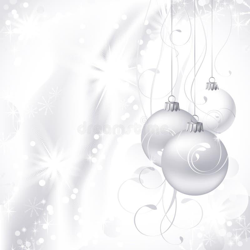 Fondo de la Navidad blanca libre illustration