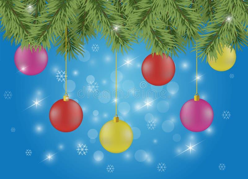 Fondo de la Navidad chispeante o del Año Nuevo libre illustration