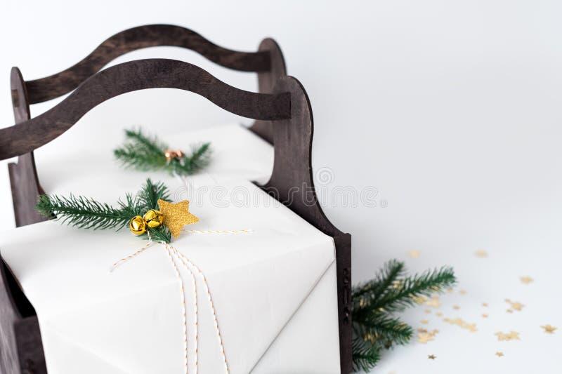 Fondo de la Navidad con fotografía de archivo