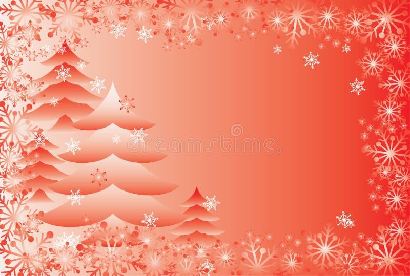 Fondo de la Navidad con copos de nieve, vector ilustración del vector