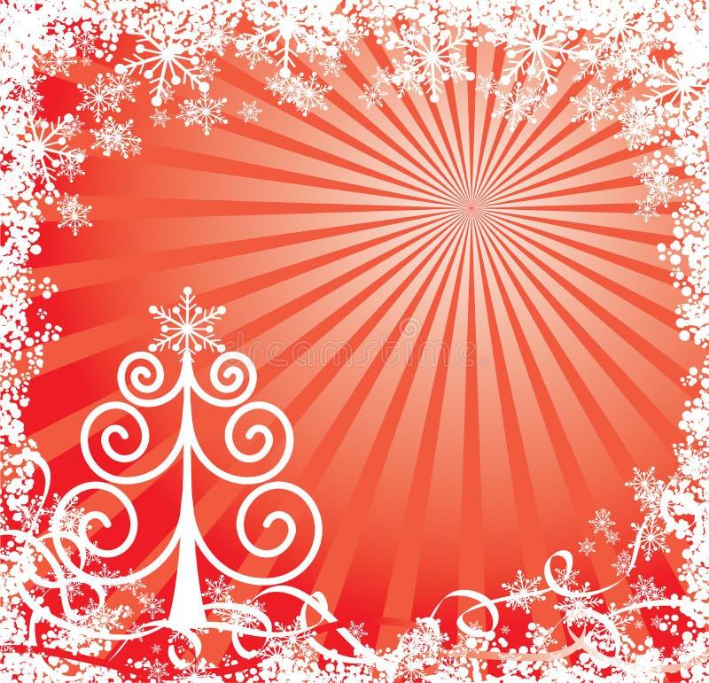Fondo de la Navidad con copos de nieve, vector stock de ilustración