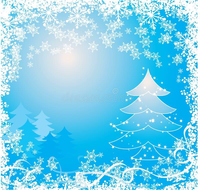 Fondo de la Navidad con copos de nieve, vector libre illustration