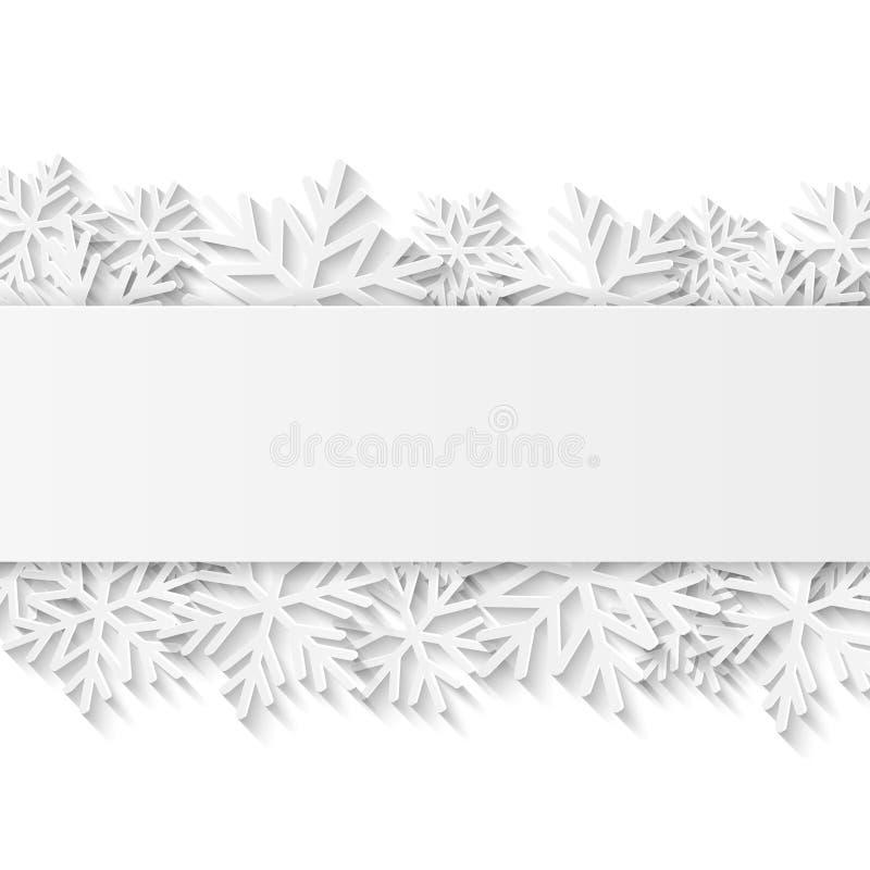 Fondo de la Navidad con el Libro Blanco ilustración del vector