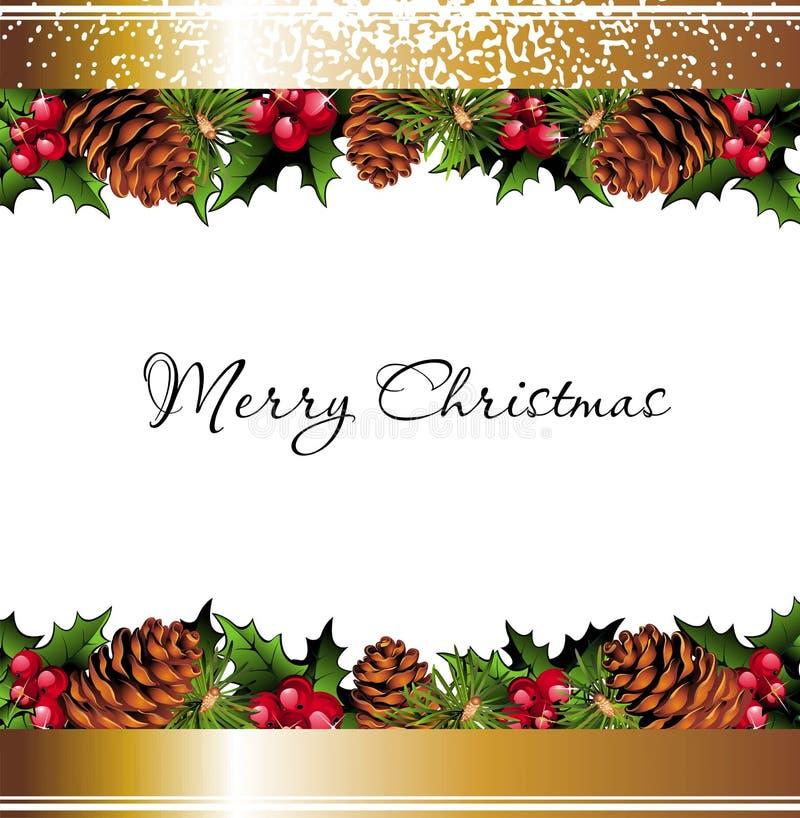 Fondo de la Navidad con el lugar para su texto stock de ilustración