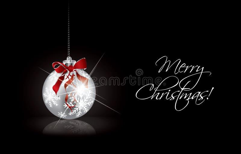 Fondo de la Navidad con la bola de plata libre illustration