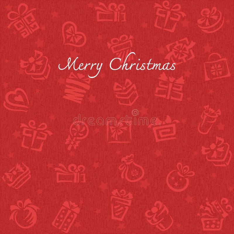 Fondo de la Navidad con la caja de regalo ilustración del vector