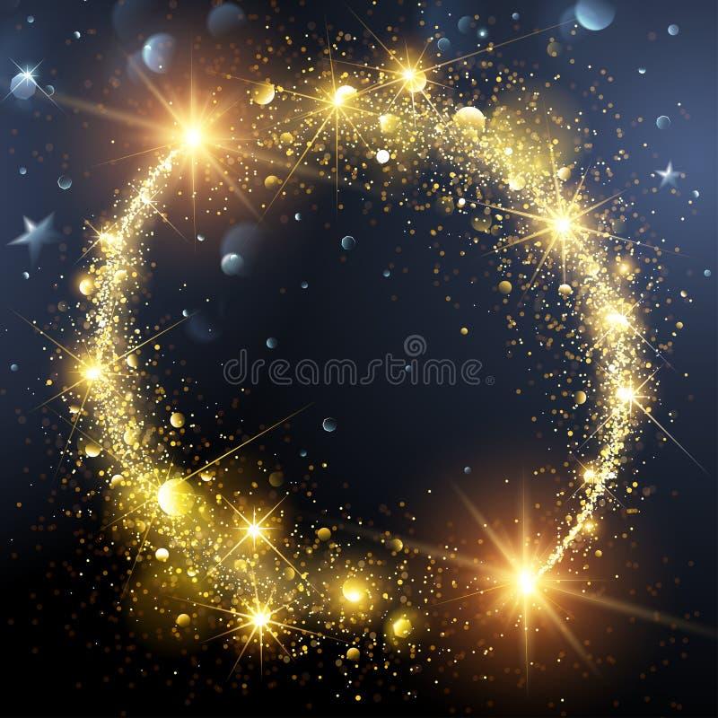 Fondo de la Navidad con la estrella del oro libre illustration