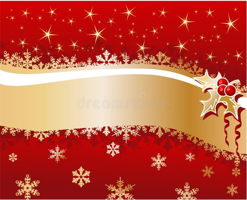 Fondo de la Navidad con las bayas libre illustration
