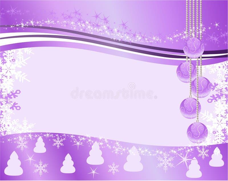 Fondo de la Navidad con las bolas ilustración del vector