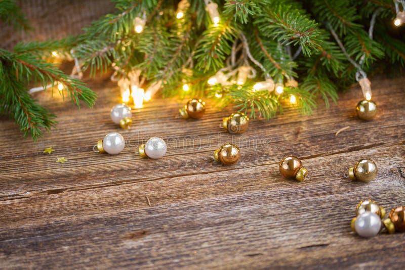 Fondo de la Navidad con las luces imágenes de archivo libres de regalías