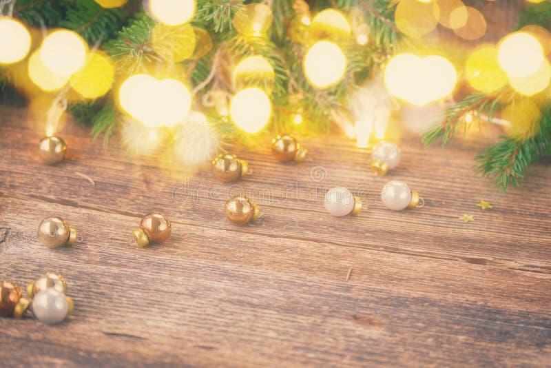 Fondo de la Navidad con las luces foto de archivo libre de regalías