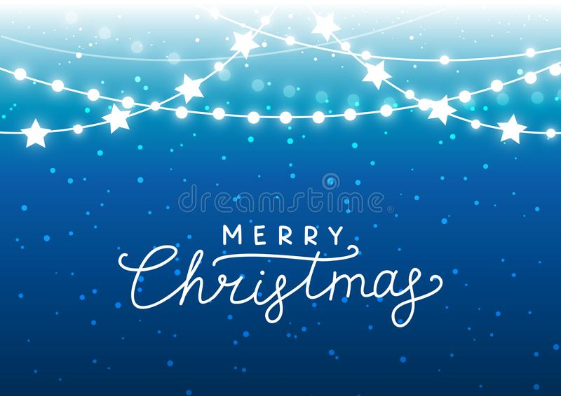 Fondo de la Navidad con las luces brillantes libre illustration