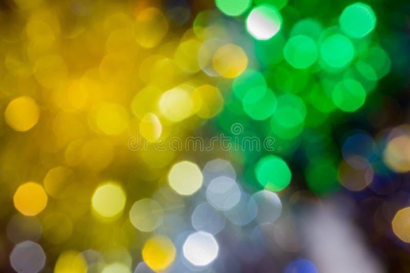 Fondo de la Navidad con las luces de la falta de definición imágenes de archivo libres de regalías