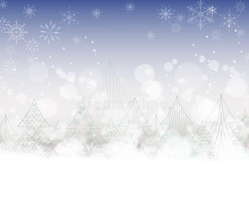 Fondo de la Navidad con los árboles libre illustration