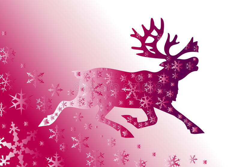 Fondo de la Navidad con los ciervos libre illustration