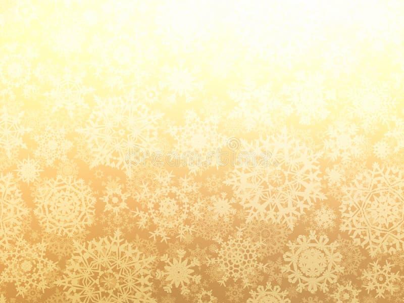 Fondo de la Navidad con los copos de nieve. EPS 8 ilustración del vector
