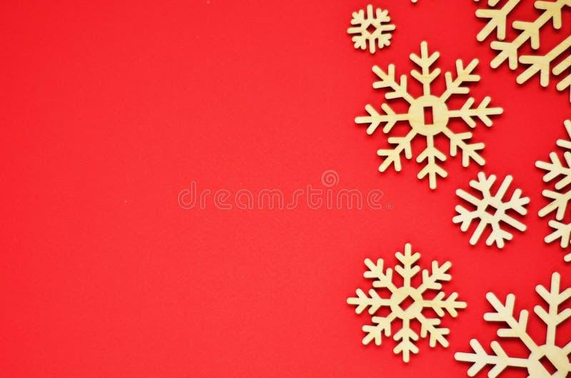 Fondo de la Navidad con los copos de nieve Espacio libre para el texto imágenes de archivo libres de regalías
