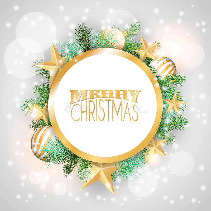 Download Fondo De La Navidad Con Los Ornamentos Y Las Ramas Amarillos Ilustración del Vector - Ilustración de abeto, saludo: 44851265