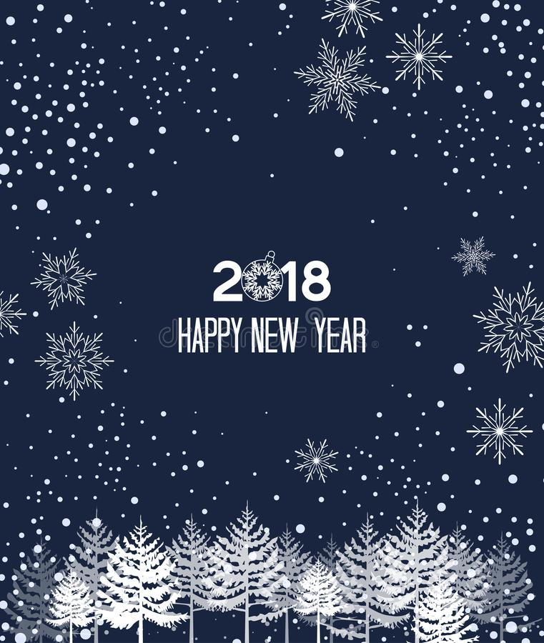 Download Fondo De La Navidad Con Snow Ilustración del Vector - Ilustración de azul, bandera: 100530333