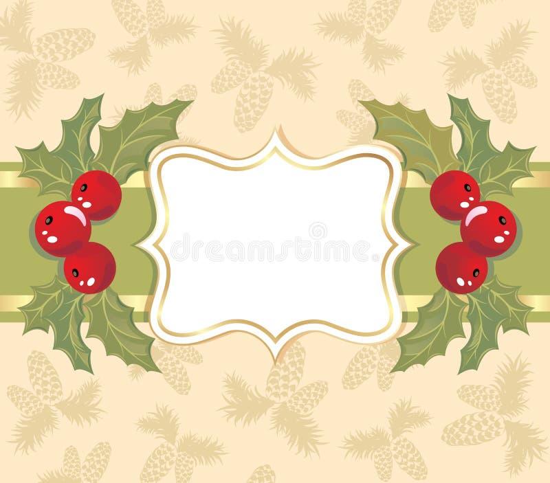 Fondo de la Navidad con un marco. stock de ilustración