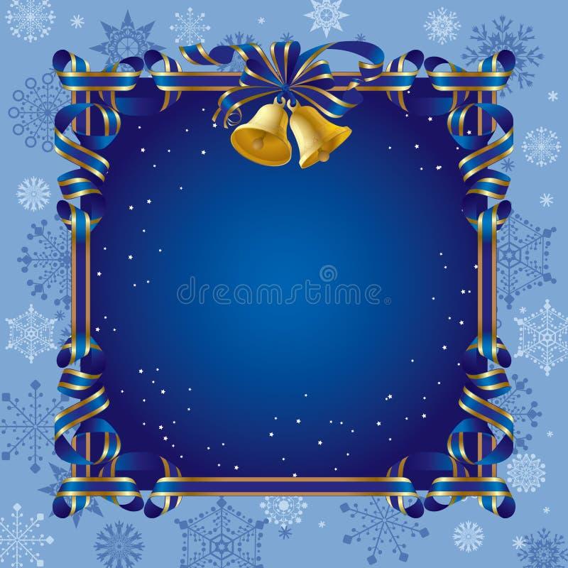 Fondo de la Navidad con una alarma ilustración del vector
