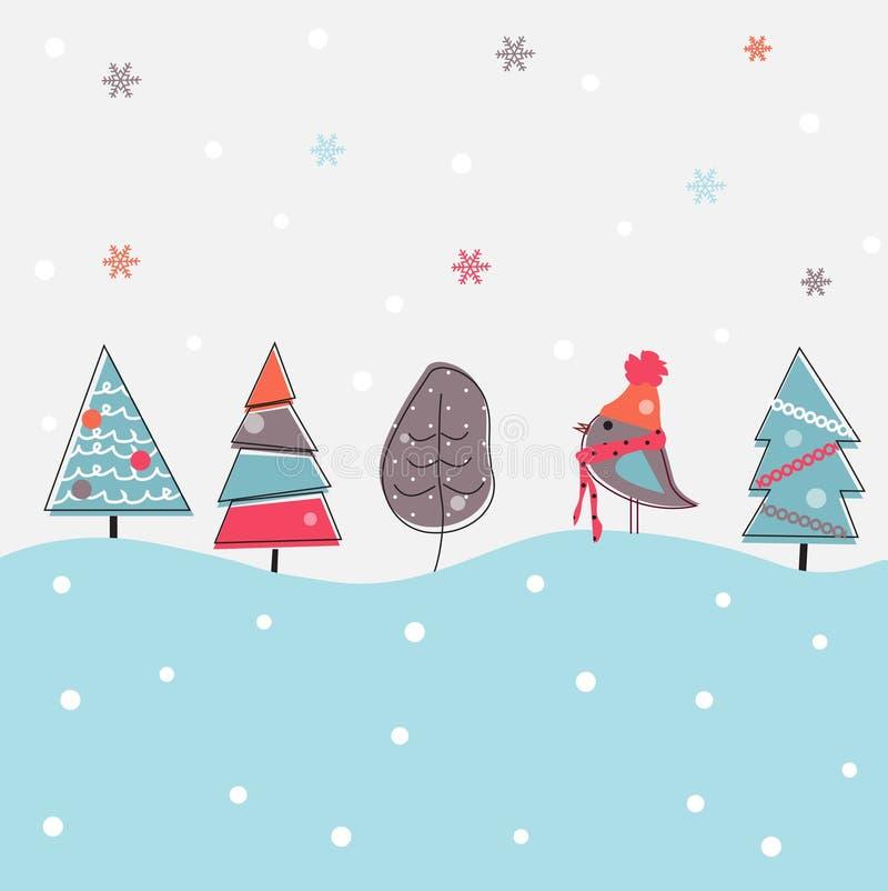 Fondo de la Navidad de la historieta ilustración del vector