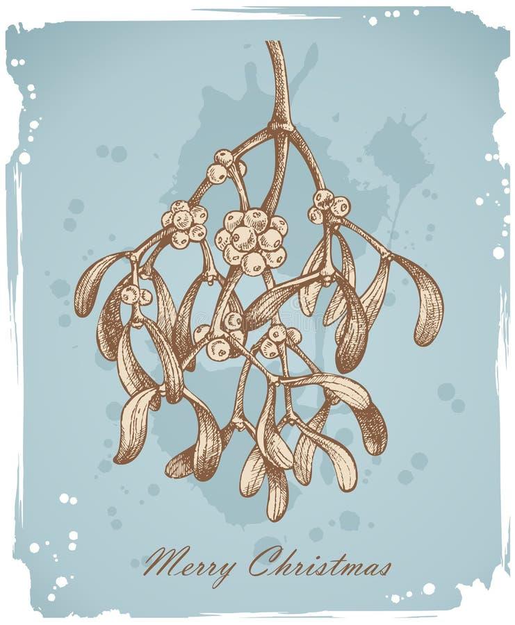 Fondo de la Navidad de la vendimia ilustración del vector