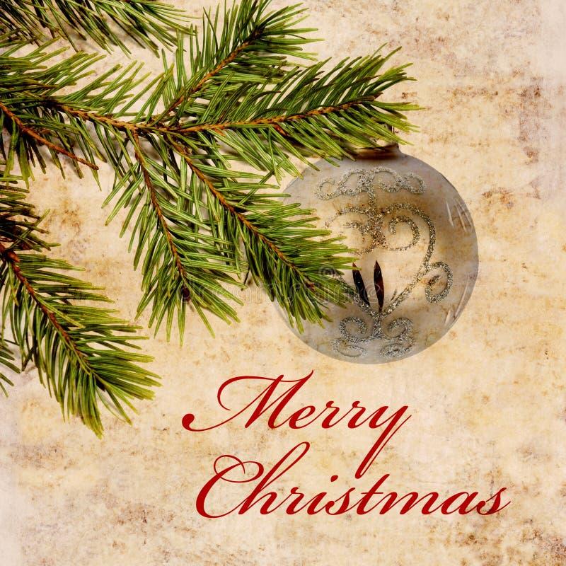 Fondo de la Navidad de la vendimia imagen de archivo libre de regalías