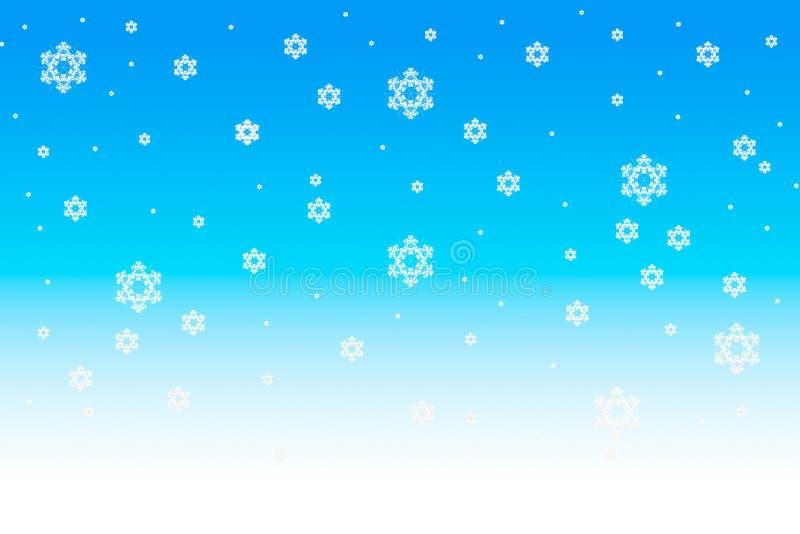 Fondo de la Navidad de los copos de nieve foto de archivo libre de regalías