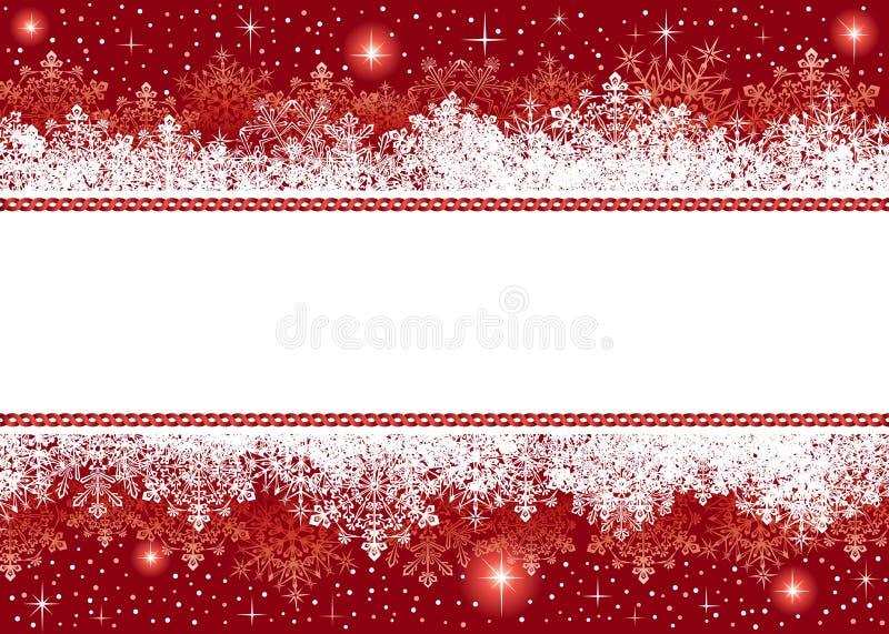 Fondo de la Navidad de los copos de nieve y de las estrellas libre illustration