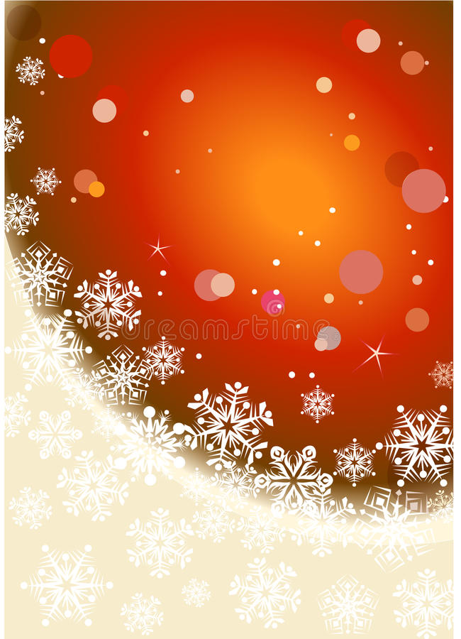 Fondo de la Navidad del invierno ilustración del vector