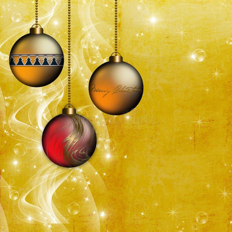 Fondo de la Navidad del ornamento del oro ilustración del vector