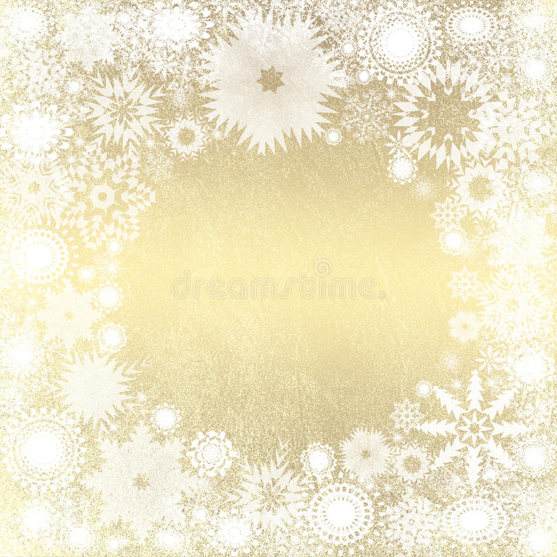 Fondo de la Navidad del oro libre illustration
