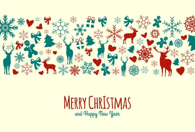 Fondo de la Navidad del vintage libre illustration