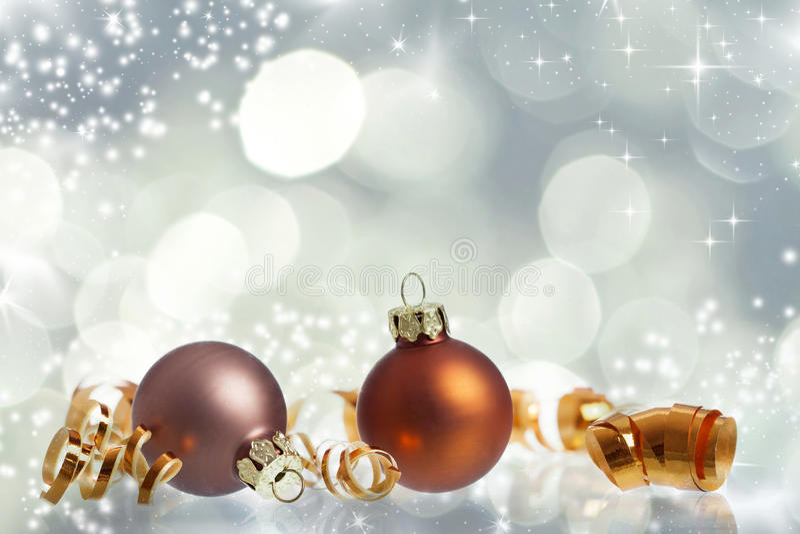 Fondo de la Navidad del vintage con las bolas de la Navidad foto de archivo