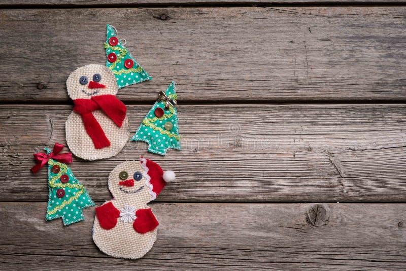 Fondo de la Navidad en el de madera imágenes de archivo libres de regalías