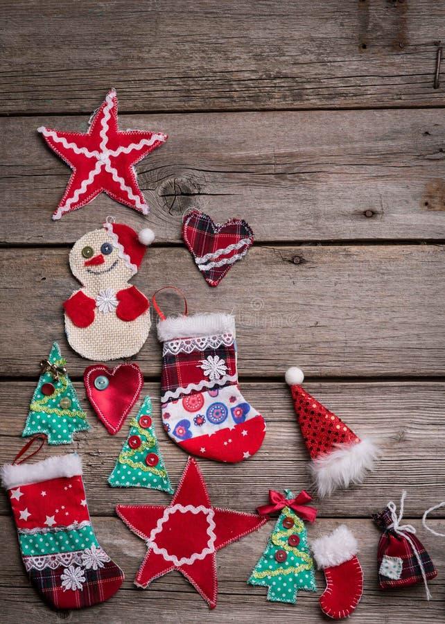 Fondo de la Navidad en el de madera fotos de archivo libres de regalías