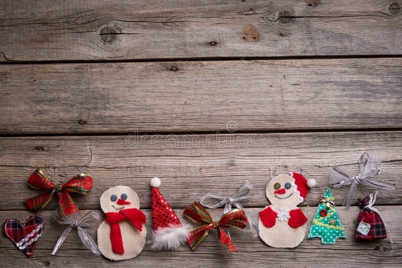 Fondo de la Navidad en el de madera fotos de archivo