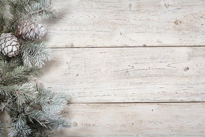 Fondo de la Navidad en de madera fotografía de archivo