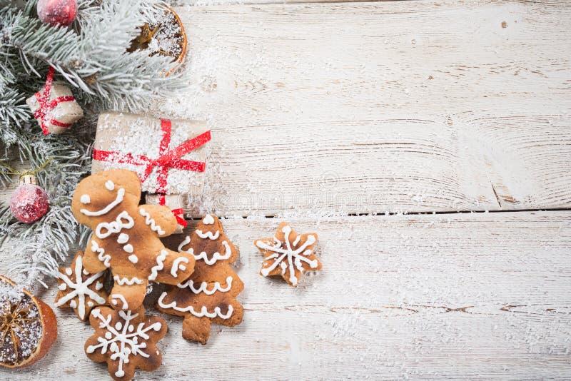 Fondo de la Navidad en de madera imagen de archivo