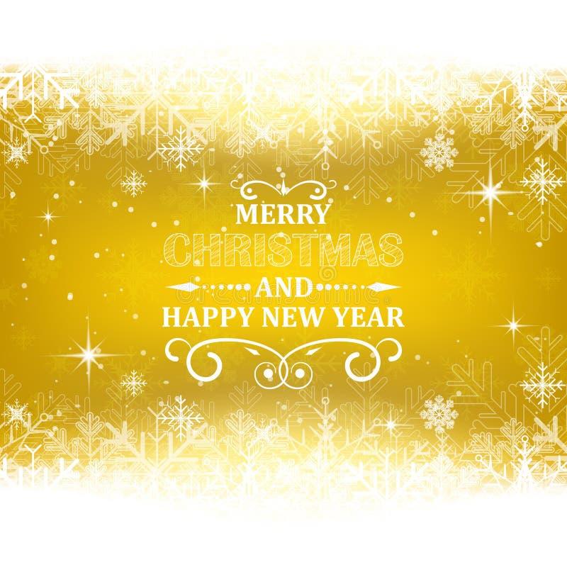 Fondo de la Navidad y del Año Nuevo con tema de la nieve libre illustration