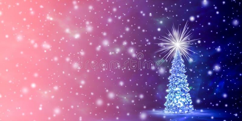 Fondo de la Navidad y del Año Nuevo en el color natural del coral vivo - el color del año 2019 stock de ilustración