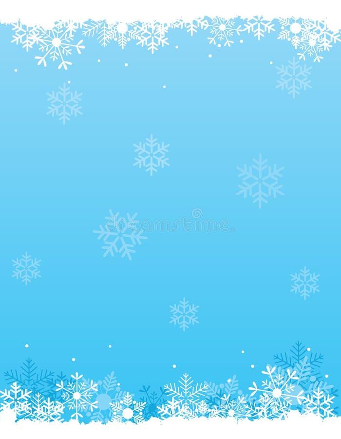 Fondo de la nieve stock de ilustración
