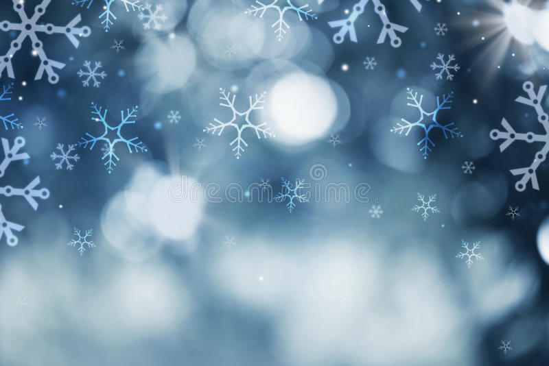 Fondo de la nieve del día de fiesta libre illustration