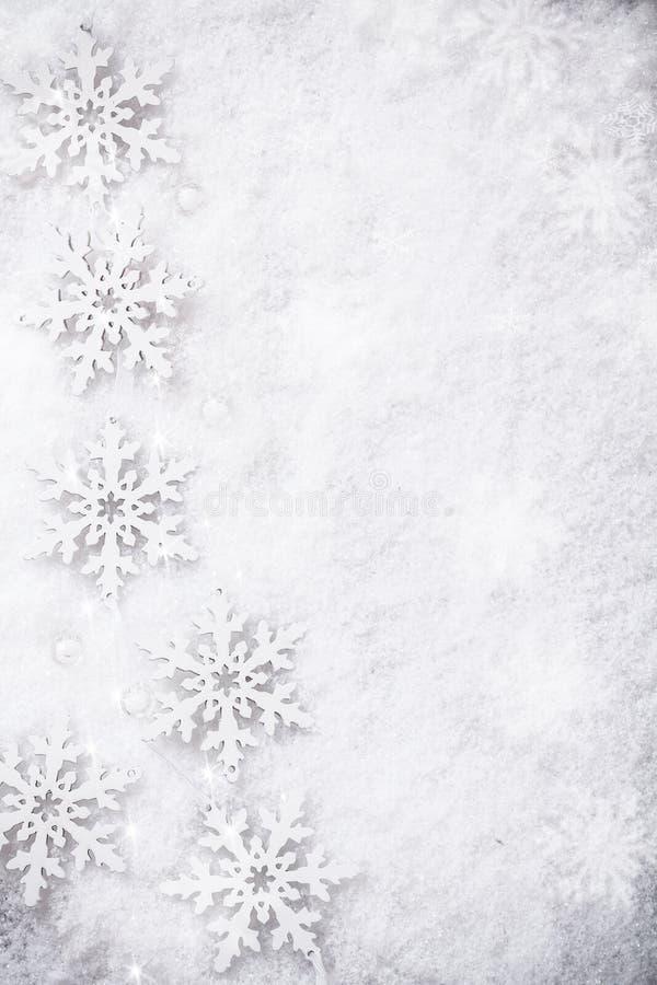 Fondo de la nieve del invierno fotografía de archivo