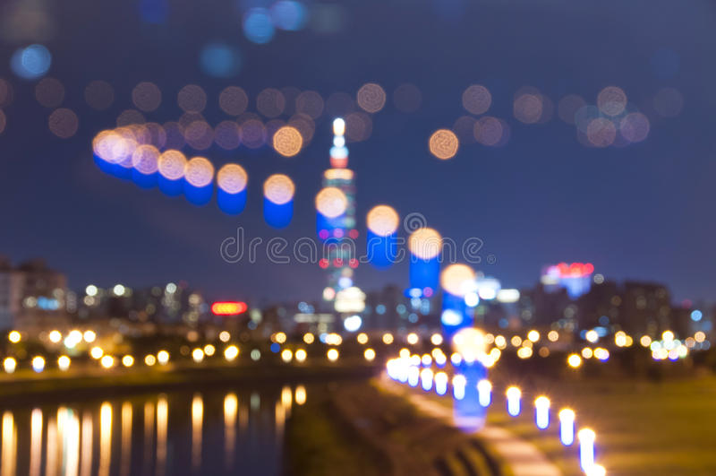Fondo de la noche de la ciudad de Taipei imágenes de archivo libres de regalías