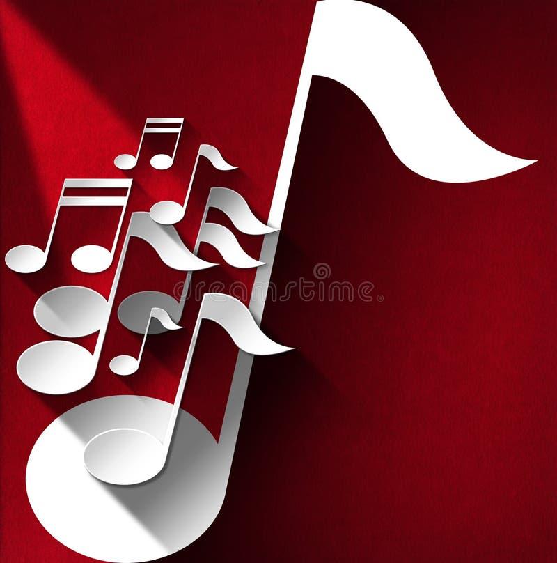 Fondo de la nota de la música - terciopelo rojo libre illustration