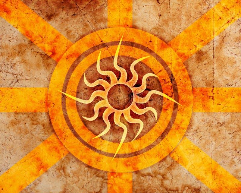 Fondo de la onda de la salida del sol stock de ilustración