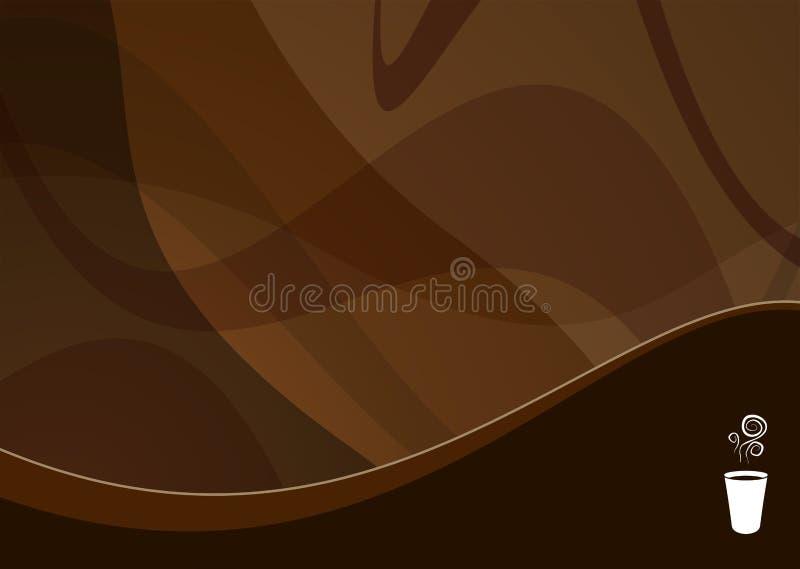 Fondo de la onda del café stock de ilustración